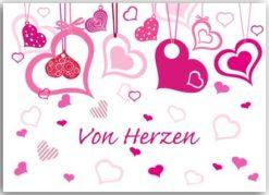 Postkarte Von Herzen