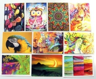 10 Bunte Postkarten Set 1