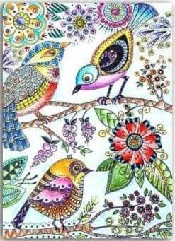 Postkarte Vögel
