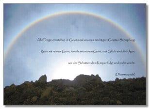 Postkarte Alle Dinge entstehen im Geist