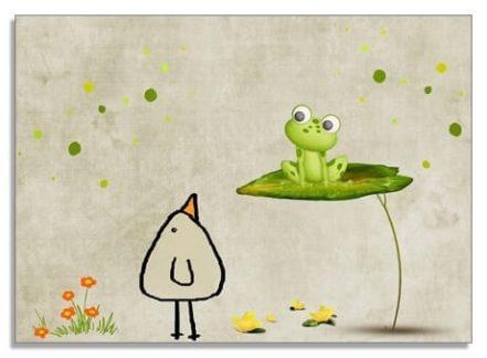 Postkarte Hallo Frosch - Piep