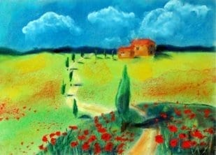 Landschaft Pastell II 1
