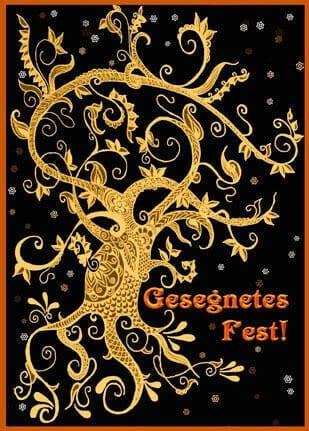 Weihnachtskarte Gesegnetes Fest