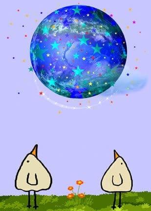Blauer Sternenplanet - piep 1