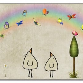 Postkarte Schmetterlingsbogen - Piep
