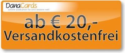 ab 20 Euro keine Versandkosten