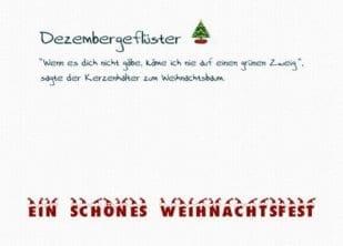 Postkarte Dezembergeflüster