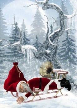 Santa im Schnee