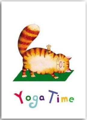Postkarte Yoga-Katze