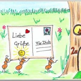 Postkarte Ameisenpost