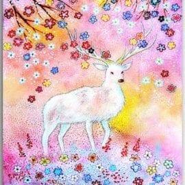 Postkarte Frühlingshirsch