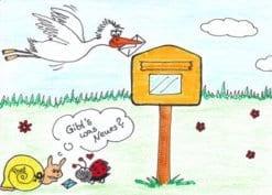 Postkarte Gibts was Neues