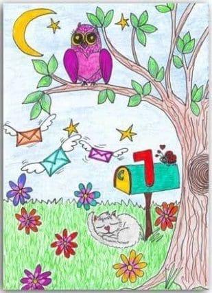 Postkarte Nachtpost