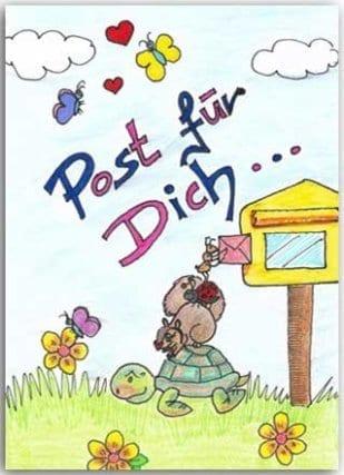 Postkarte Post für Dich