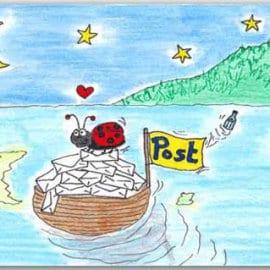 Postkarte Schiffspost