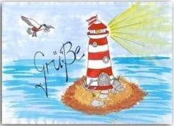 Postkarte Grüße