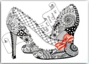 Postkarte So many Shoes