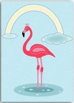 Postkarte Flamingo