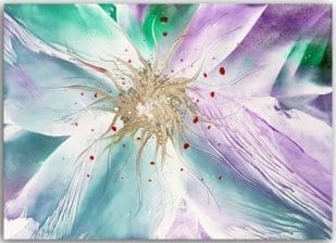 Postkarte Blume