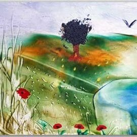 Postkarte Landschaft