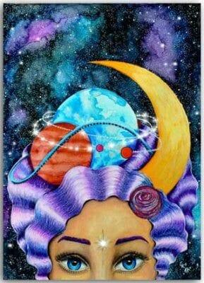 Postkarte Madame Galaxia