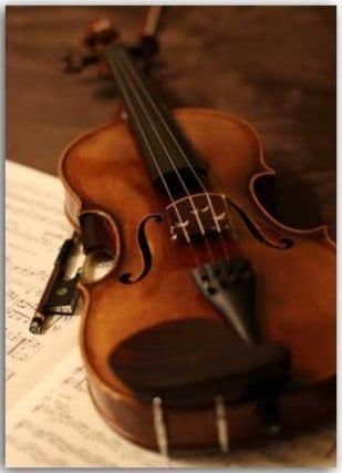 Postkarte Violine