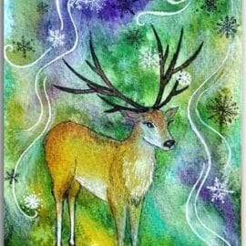 Postkarte Zauberhirsch