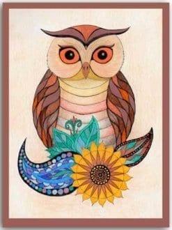 Postkarte Blumeneule