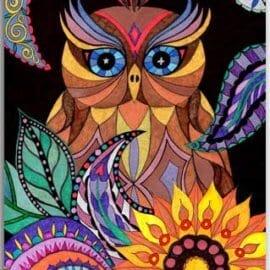 Postkarte Mandala Eule