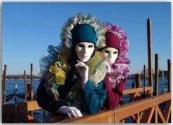 Postkarte Karneval in Venedig