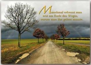 Postkarte Regenbogen