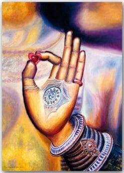 Postkarte Buddhas Hand
