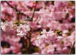 Postkarte Das Lächeln das du asussendest...
