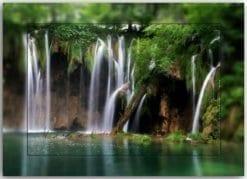 Postkarte Wasserfall