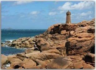 Postkarte Leuchtturm Bretagne