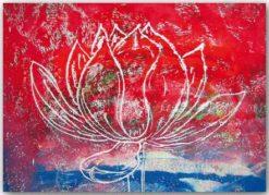 Postkarte Roter Lotus
