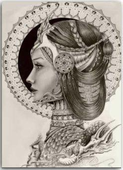 Postkarte Bildnis der Drachenkönigin