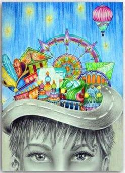 Postkarte Das bunte Reich der Phantasie