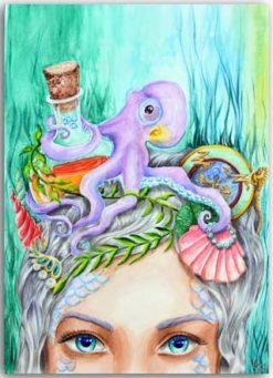 Postkarte Meerhexe