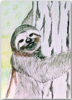 Postkarte Faultier