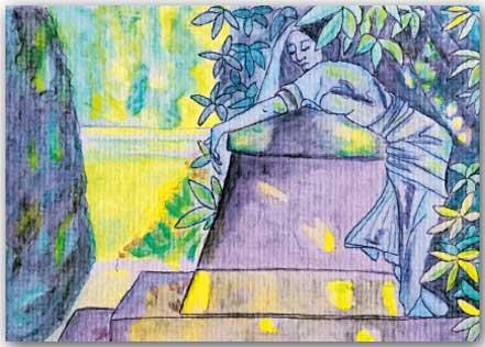 Postkarte Im Garten
