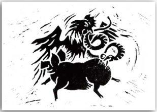 Schlange, Schwein und Hahn 1