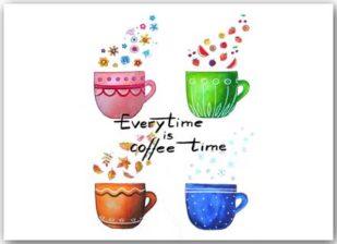 Postkarte Coffeetime