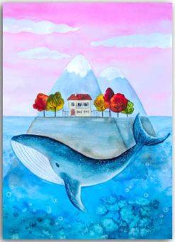 Wortspielpostkarte Wal-Heimat