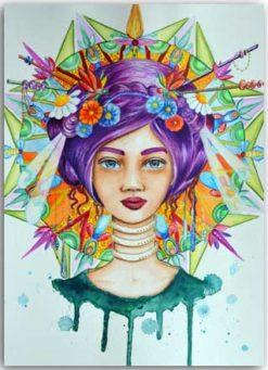 Postkarte Violetta