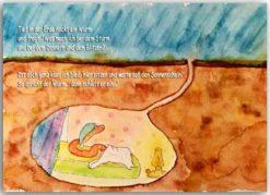 Postkarte Regenwurm
