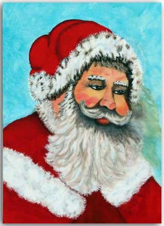 Postkarte Ho-ho-hoo