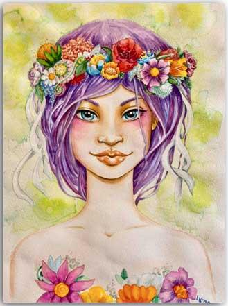 Postkarte Maya, das-Hexenkind