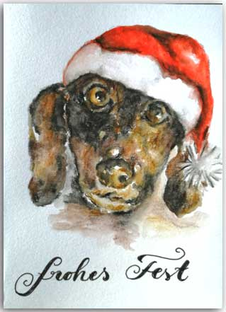 Postkarte Tierische Weihnachten