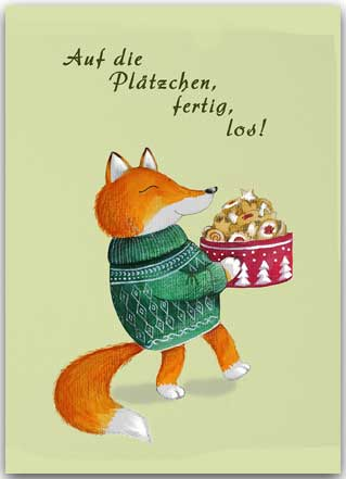 Postkarte Plätzchenfuchs